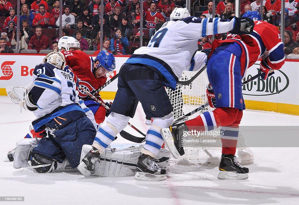 Max 80 Winnipeg >> Johnny Oduya Of The Winnipeg Jets Pushes Max Pacioretty Of The