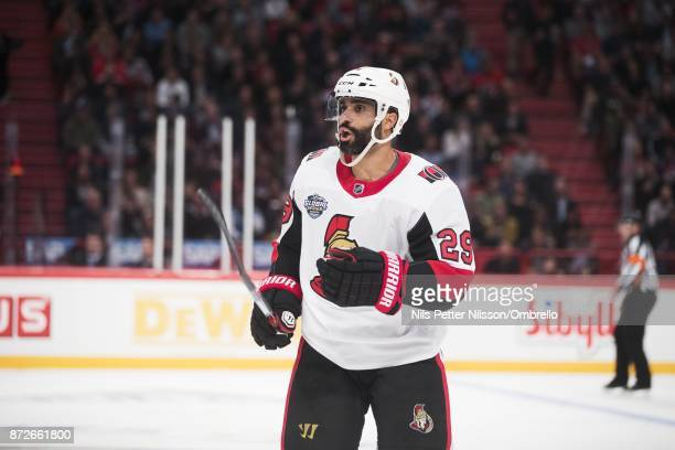 Johnny Oduya Ottawa Senators during the 2017 SAP NHL Global Series match between Ottawa Senators and Colorado Avalanche at Ericsson Globe on November...