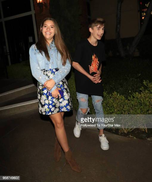 Johnny Orlando and Mackenzie Ziegler are seen on May 14 2018 in Los Angeles California
