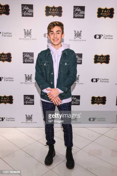 Johnny Orlando attends the 3rd annual holiday window unveiling event at Hudson's Bay on November 4 2018 in Toronto Canada