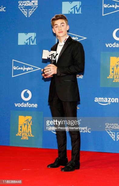 Johnny Orlando attends the MTV EMAs 2019 at FIBES Conference and Exhibition Centre on November 03 2019 in Seville Spain