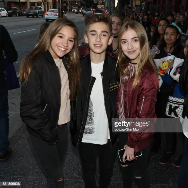 Johnny Orlando Lauren Orlando and Mackenzie Ziegler are seen on February 11 2017 in Los Angeles CA