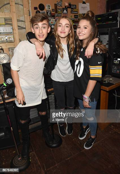 Johnny Orlando Lauren Orlando Mackenzie Ziegler pose backstage after the 'Day NIght' tour performance at Mr Smalls on October 28 2017 in Millvale...