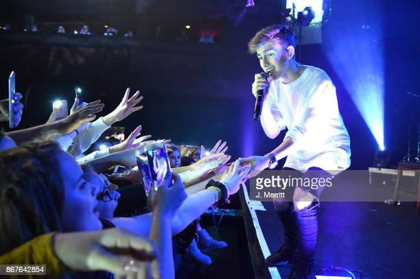 Johnny Orlando performs during the Day NIght tour at Mr Smalls on October 28 2017 in Millvale Pennsylvania