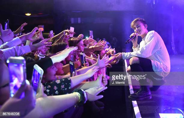 Johnny Orlando performs during the 'Day NIght' tour at Mr Smalls on October 28 2017 in Millvale Pennsylvania