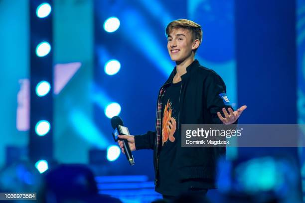 Johnny Orlando performs on stage during the 2018 WE Day Toronto Show at Scotiabank Arena on September 20 2018 in Toronto Canada