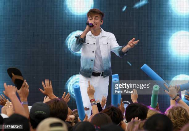 Johnny Orlando performs onstage during FOX's Teen Choice Awards 2019 on August 11 2019 in Hermosa Beach California