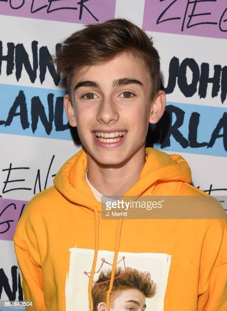 Johnny Orlando poses during a meet and greet on the Day NIght tour at Mr Smalls on October 28 2017 in Millvale Pennsylvania