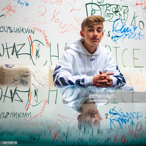 Johnny Orlando visits Music Choice on September 11 2018 in New York City