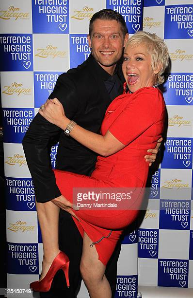 Johnny Partridge and Denise Welch attends the Terrence Higgins Trust's The Supper Club at Cafe de Paris on November 2 2010 in London England
