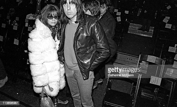 Johnny Ramone and wife Linda pose for a photo during fashion week in 1994 in New York City, New York.