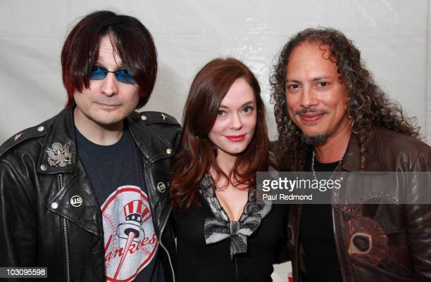 Johnny Ramone Army Chief of Staff John Cafiero actress JRose McGowan and musician Kirk Hammett attend the The 6th Annual Johnny Ramone Tribute at...