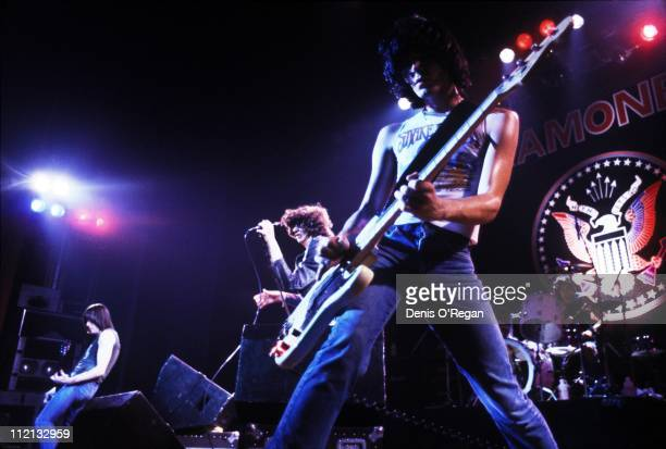 Johnny Ramone Joey Ramone and Dee Dee Ramone of The Ramones live at the Rainbow January 1979