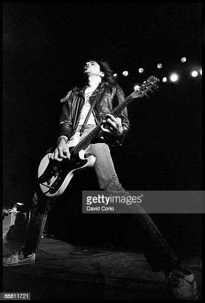 Johnny Ramone of The Ramones performing at Hammersmith Odeon London 1980
