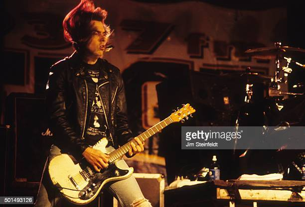 Johnny Ramone performs with the Ramones at Edge Fest 2 at Float-Rite Park in Somerset, Wisconsin on May 28, 1995.