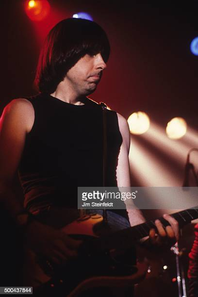 Johnny Ramone performs with the Ramones at First Avenue nightclub in Minneapolis, Minnesota on July 27, 1986.