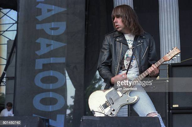 Johnny Ramone performs with the Ramones at Lallapalooza at the Irvine Meadows Amphitheater in Irvine, California on August 3
