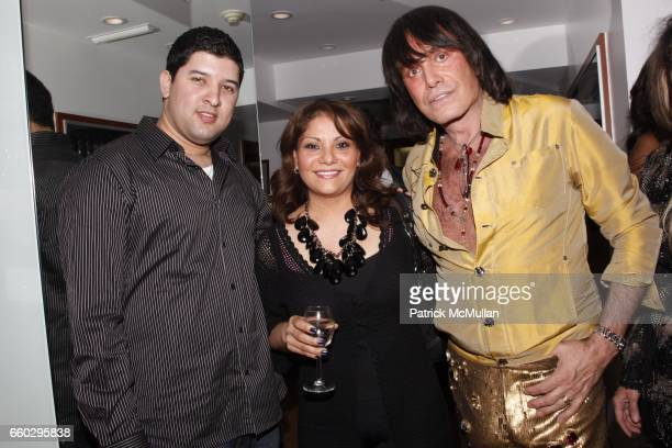 Johnny Rivera Ava Martinez and Rodolfo Valentin attend RODOLFO VALENTIN'S Salon Spa Preview Party at 694 Madison Avenue on June 15 2009 in New York...