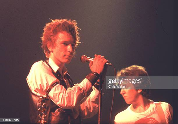 Johnny Rotten and Steve Jones perform at the final Sex Pistols show on January 14 1978 at Winterland Ballroom in San Francisco CA
