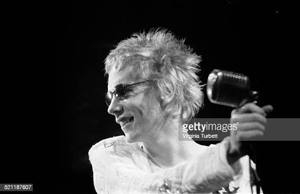 Johnny Rotten of The Sex Pistols recording a video for the song 'Pretty Vacant' London June 1977