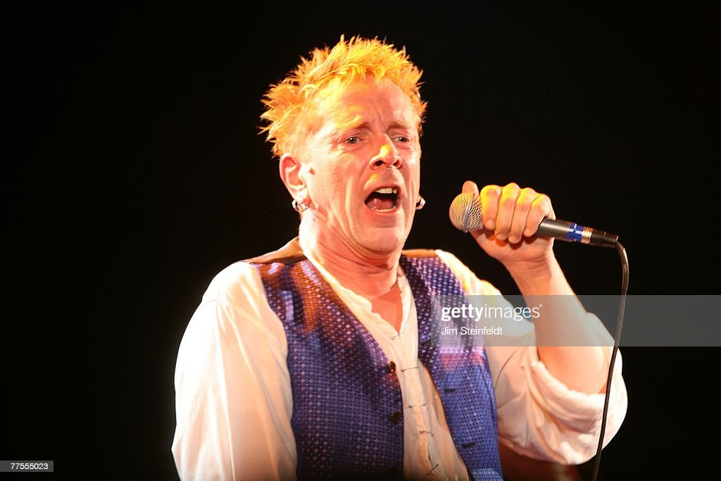 Johnny Rotten performs with the Punk Rock band The Sex Pistols at The Roxy on the Sunset Strip in West Hollywood, California on October 25, 2007.