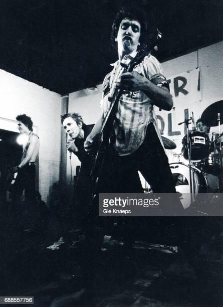 Johnny Rotten Sid Vicious Steve Jones Paul Cook The Sex Pistols De Effenaar Eindhoven Holland December 1977