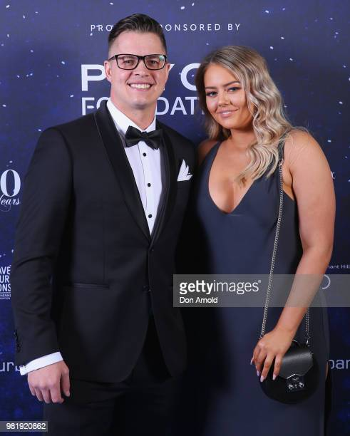 Johnny Ruffo and Tahnee Sims attend the Save Our Sons Sydney Gala Dinner at the ICC Sydney on June 23 2018 in Sydney Australia