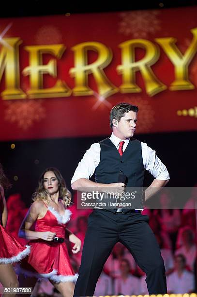Johnny Ruffo performs during Woolworths Carols in the Domain at The Domain on December 19 2015 in Sydney Australia Woolworths Carols in the Domain is...