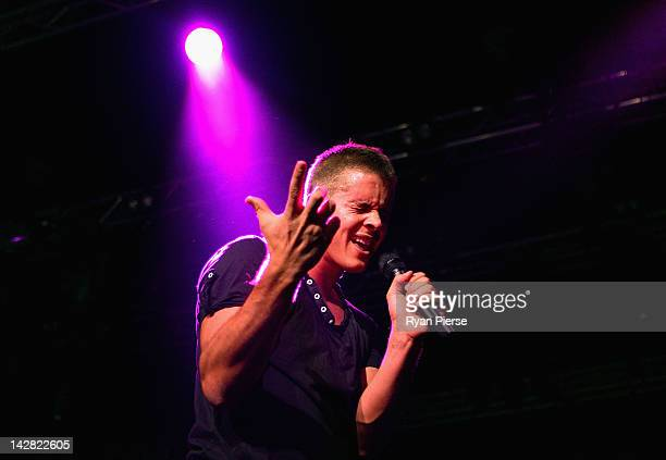 Johnny Ruffo performs live on stage as a support act to One Direction during the matinee show at Hordern Pavilion on April 13 2012 in Sydney Australia
