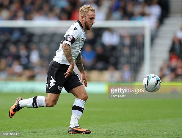 Johnny Russell of Derby County in action during the Sky Bet Championship match between Derby County and Leeds United at Pride Park Stadium on October...