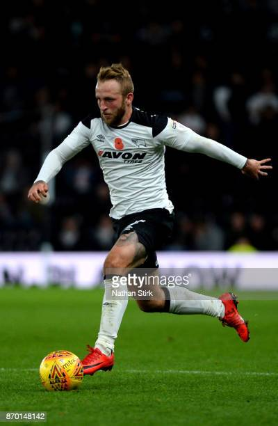 Johnny Russell of Derby County in action during the Sky Bet Championship match between Derby County and Reading at iPro Stadium on November 4 2017 in...