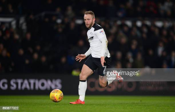 Johnny Russell of Derby County in action during the Sky Bet Championship match between Derby County and Aston Villa at iPro Stadium on December 16...