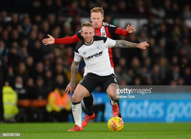 Johnny Russell of Derby County in action during the Sky Bet Championship match between Derby County and Sheffield United at iPro Stadium on January 1...