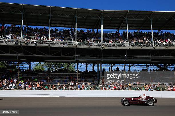 Johnny Rutherford runs a historic lap in the Maserati 8CTF 'Boyle Edition' in commemoration of Indianapolis 500 twotime victory at Indianapolis...