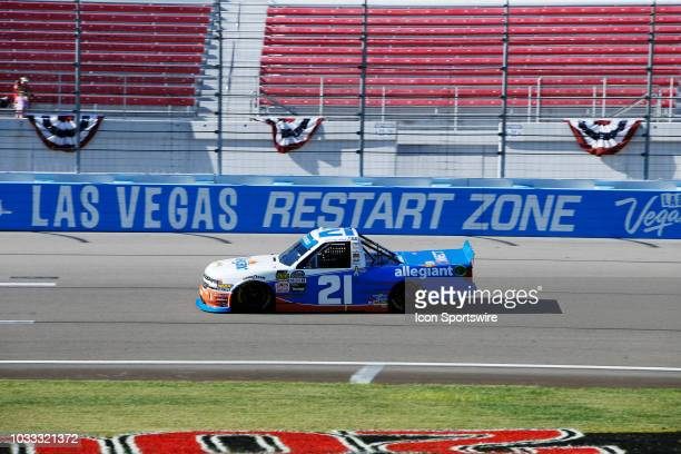 Johnny Sauter Allegiant Chevrolet Silverado during qualifying for the World of Westgate 200 NASCAR Camping World Truck Series Playoff Race on...