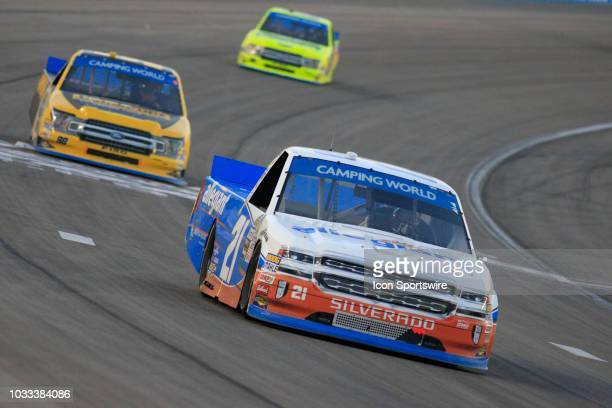 Johnny Sauter Allegiant Chevrolet Silverado during the World of Westgate 200 NASCAR Camping World Truck Series Playoff Race on September 14 at Las...