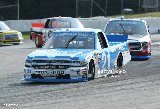 Johnny Sauter driver of the ISM Connect Chevrolet drives at Canadian Tire Mosport Park on August 25 2018 in Bowmanville Canada