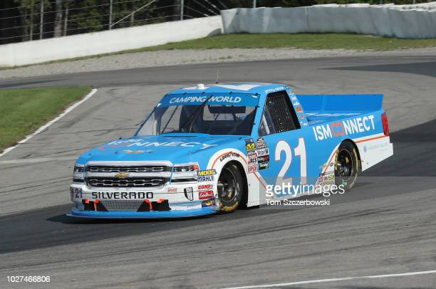 Johnny Sauter driver of the ISM Connect Chevrolet drives at Canadian Tire Mosport Park on August 26 2018 in Bowmanville Canada