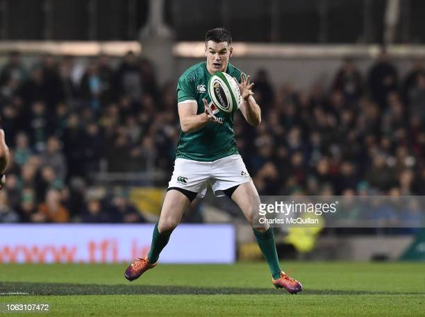 Johnny Sexton of Ireland during the International Friendly rugby match between Ireland and New Zealand on November 17 2018 in Dublin Ireland