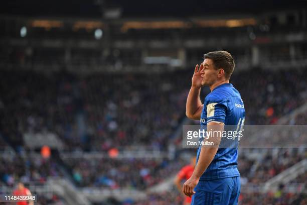 Johnny Sexton of Leinster looks on during the Champions Cup Final match between Saracens and Leinster at St James Park on May 11 2019 in Newcastle...