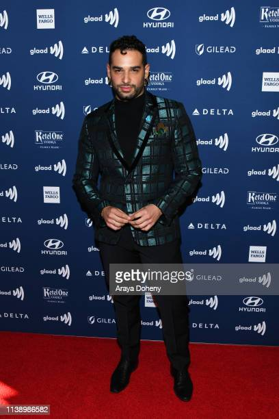 Johnny Sibilly at the 30th Annual GLAAD Media Awards at The Beverly Hilton Hotel on March 28 2019 in Beverly Hills California