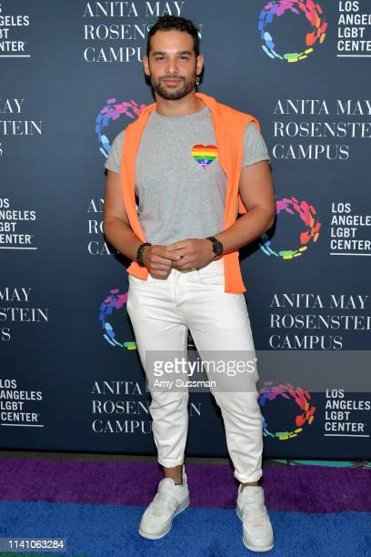 Johnny Sibilly attends the grand opening of the Los Angeles LGBT Center's Anita May Rosenstein Campus on April 07 2019 in Los Angeles California
