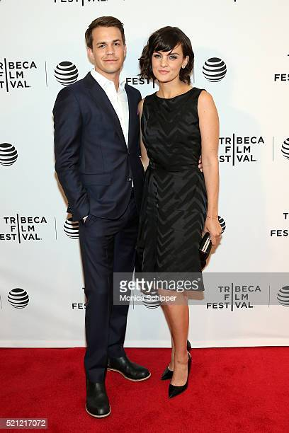 Johnny Simmons and Frankie Shaw attend 'Dreamland' Premiere 2016 Tribeca Film Festival at Chelsea Bow Tie Cinemas on April 14 2016 in New York City