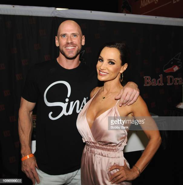 Johnny Sins and Lisa Ann attend Exxxotica New Jersey 2018 at Expo Center on November 2 2018 in Edison New Jersey