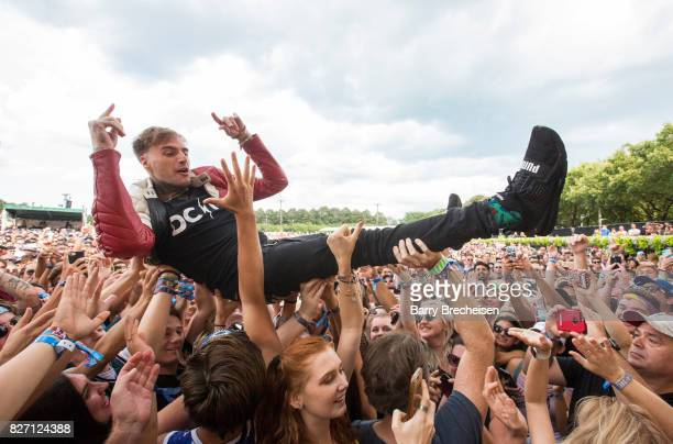 Johnny Stevens of Highly Suspect during the 2017 Lollapalooza Day Three at Grant Park on August 5 2017 in Chicago Illinois