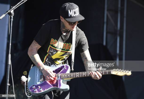 Johnny Stevens of Highly Suspect performs during the Monster Energy Aftershock Festival at Discovery Park on October 21 2017 in Sacramento California