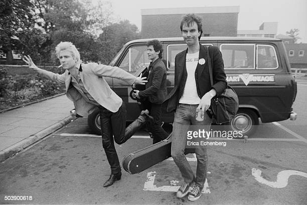 Johnny Thunders and the Heartbreakers with a Ford Transit tour van, St Albans, United Kingdom, 1977.