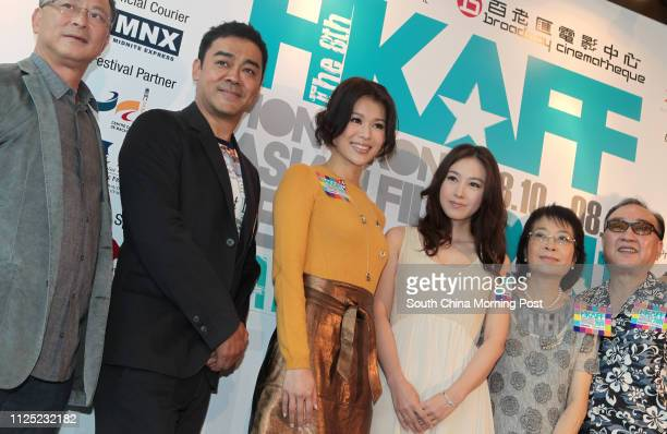 Johnny To Keifung Sean Lau Chingwan Myolie Wu Hangyee JJ Jia Xiaochen So Hangsuen and Lo Hoipang attend the press conference of the Hong Kong Asian...