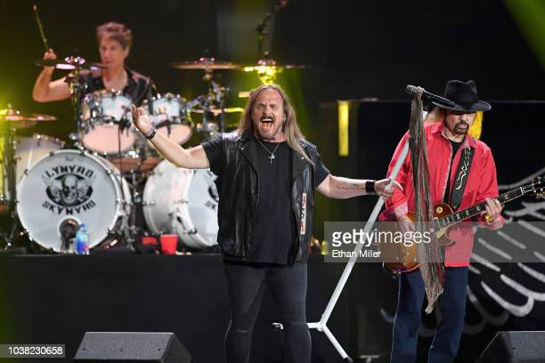 Johnny Van Zant and Gary Rossington of Lynyrd Skynyrd perform onstage during the 2018 iHeartRadio Music Festival at TMobile Arena on September 22...