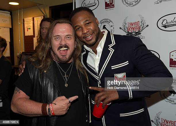 Johnny Van Zant and Robert Randolph attend One More For The Fans Celebrating the Songs Music of Lynyrd Skynyrd at The Fox Theatre on November 12 2014...